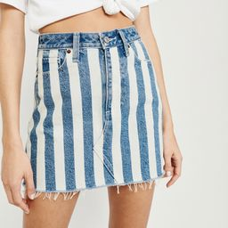 Striped Denim Mini Skirt | Abercrombie & Fitch US & UK