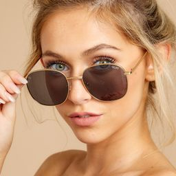 Jezabell Gold Smoke Sunglasses | Red Dress