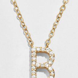 14K Diamond Initial Pendant | BaubleBar (US)