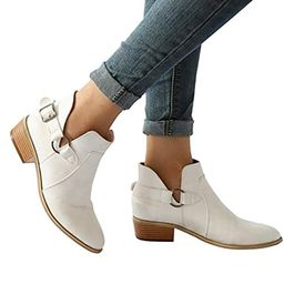 vermers Women Fashion Pointed Toe Boots - Women Casual Classic Ankle Boots Shoes | Amazon (US)