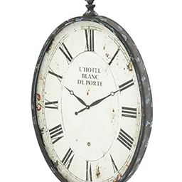 "Deco 79 53306 Metal Wall Clock, 37""x23"" | Amazon (US)"