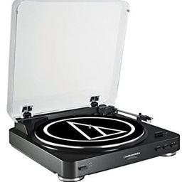 Audio-Technica AT-LP60BK-USB Fully Automatic Belt-Drive Stereo Turntable (USB & Analog), Black | Amazon (US)