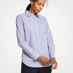 End On End Cotton Perfect Shirt | Ann Taylor (US)