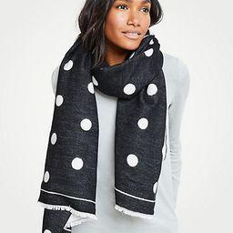 Polka Dot Blanket Scarf | Ann Taylor (US)