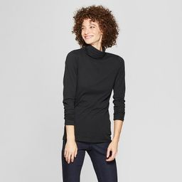 Women's Long Sleeve Fitted Turtleneck - A New Day™   Target