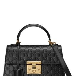 Gucci Small Padlock Top Handle Signature Leather Bag | Nordstrom