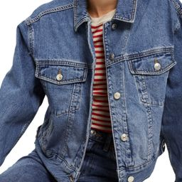 Topshop Boxy Crop Denim Jacket | Nordstrom