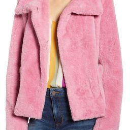 Leith Fur-Fect Faux Fur Jacket | Nordstrom