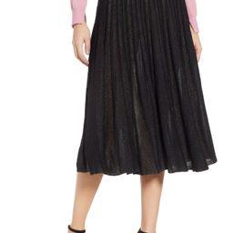 Prima Sparkle Pleated Midi Skirt | Nordstrom