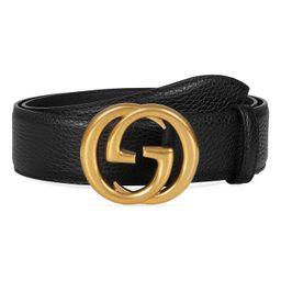Gucci Interlocking-G Calfskin Leather Belt | Nordstrom