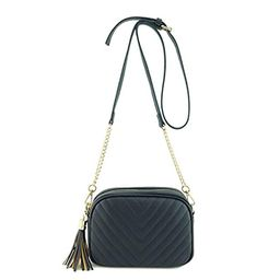 Simple Shoulder Crossbody Bag With Metal Chain Strap And Tassel Top Zipper | Amazon (US)