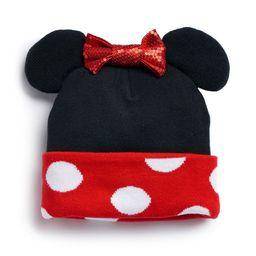 Disney's Minnie Mouse Ears & Bow Knit Beanie | Kohl's