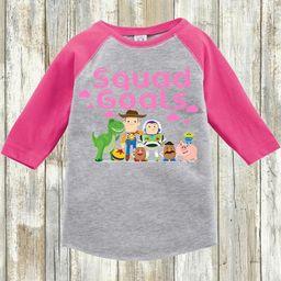 Kid's Girls/ Boys Toy Story Shirt   Pink Squad Goals   Youth Toddler Raglan   Youth & Toddler Regula   Etsy (US)