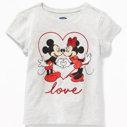 """Disney© Mickey & Minnie Mouse """"Love"""" Tee for Toddler Girls 