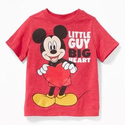 """Disney© Mickey Mouse """"Little Guy, Big Heart"""" Tee for Toddler Boys 