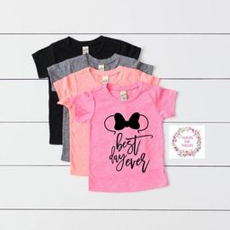 Best Day Ever Minnie Ears Toddler Shirt Youth Baby OOTD Mickey Mouse OOTD Cute T-Shirt Choose Shirt    Etsy (US)