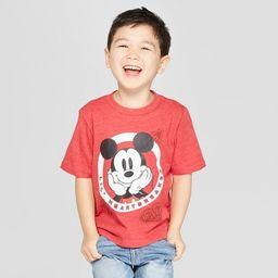 Toddler Boys' Disney Short Sleeve T-Shirt - Red 5T | Target