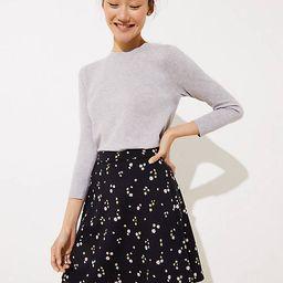 Floral Ponte Flippy Skirt | LOFT