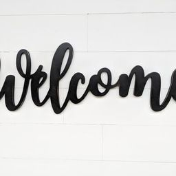 Welcome Word Cutout | Wooden letters | Welcome Sign | | Etsy (US)