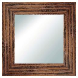 Square Reclaimed Wood Decorative Wall Mirror Natural - PTM Images | Target