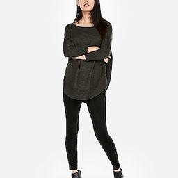 Marled Extreme Circle Hem Tunic Sweater   Express