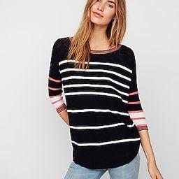Striped Circle Hem Tunic Sweater   Express