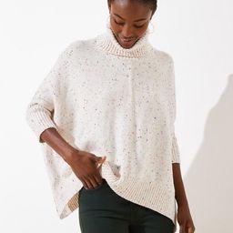 Speckled Turtleneck Poncho Sweater | LOFT | LOFT