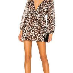 superdown Jill Deep V Dress in Leopard | Revolve Clothing (Global)