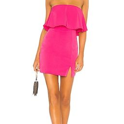 by the way. Catalina Ruffle Tube Mini Dress in Hot Pink | Revolve Clothing (Global)