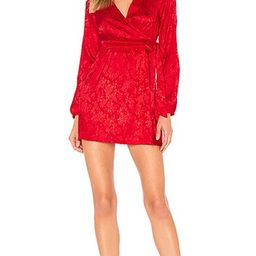 by the way. Camila Floral Jacquard Mini Dress in Red | Revolve Clothing (Global)