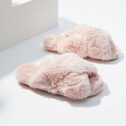 Faux Fur Slide Slippers   LOFT   LOFT
