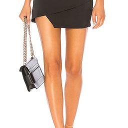 superdown Saira Satin Mini Skirt in Black | Revolve Clothing (Global)