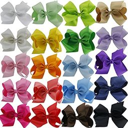 QingHan 6 inch Hair Bows For Girls Grosgrain Ribbon Large Boutique Bow Alligator Clips Teens Kids Pa   Amazon (US)