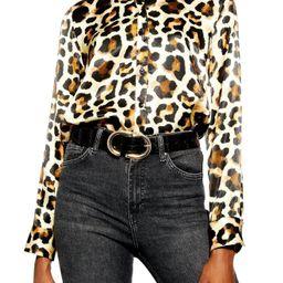 Topshop Leopard Print Shirt   Nordstrom