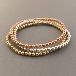 Beaded Ball Bracelet in Gold Fill, Rose Gold Fill, or Sterling Silver | Etsy (US)