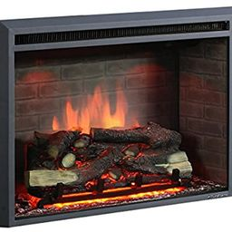 """PuraFlame 30"""" Western Electric Fireplace Insert with Remote Control, 750/1500W, Black 