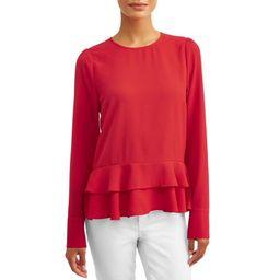 L.N.V. Women's Ruffle Hem Blouse | Walmart (US)