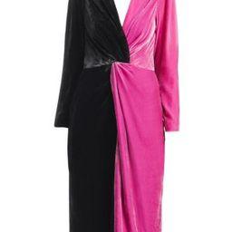 Delfi Collective - Frankie Colorblocked Velvet Dress   Saks Fifth Avenue