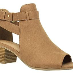MVE Shoes Women's Chunky Heel Cutout Bootie -Comfy Pionted Toe Boots | Amazon (US)