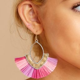 Wanna Talk About It Pink Earrings | Red Dress
