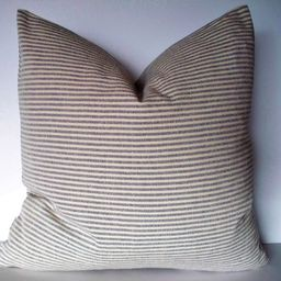 Blue Ticking Pillow Cover Blue Stripe Pillow Cover Blue and White Pillow 0   Etsy (US)