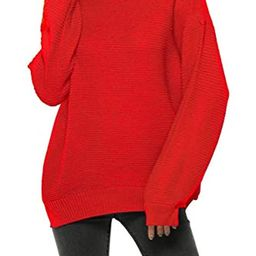 Fantastic Zone Womens Turtleneck Pullover Sweater Long Sleeve Oversized Knitted Warm Sweaters   Amazon (US)
