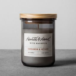 8oz Lidded Jar Container Candle Cardamom & Vetiver - Hearth & Hand™ with Magnolia | Target
