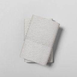 Pillowcase Set Organic Microstripe Railroad Gray / Sour Cream - Hearth & Hand™ with Magnolia | Target