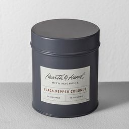 Tin Candle Black Pepper Coconut - Hearth & Hand™ with Magnolia | Target