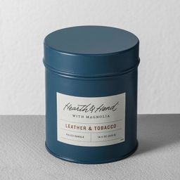 Tin Candle Leather Tobacco - Hearth & Hand™ with Magnolia | Target