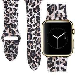 Allbingo Cute Bands for Apple Watch,Women Men Floral Replacement Strap Wristband Small Large for App | Amazon (US)