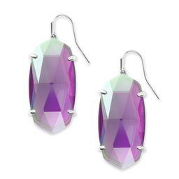 Esme Silver Drop Earrings In Gray Dichroic Glass | Kendra Scott