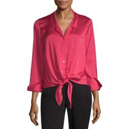 Worthington Womens Collar Neck Long Sleeve Blouse | JCPenney