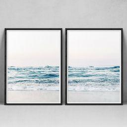 Set Of 2 Prints Beach Print, 2 Piece Coastal Wall Art, Ocean Print, Beach Wall Decor, Printable Beac | Etsy (US)